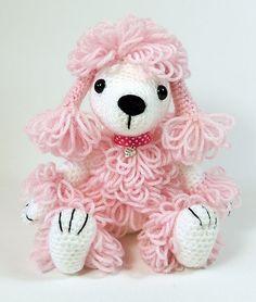 Pandora the poodle amigurumi crochet pattern by Janine Holmes at Moji-Moji Design