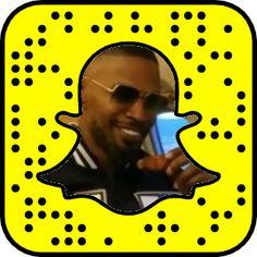 Jamie Foxx's Snapchat Code #snapchat #snapcode #jamiefoxx
