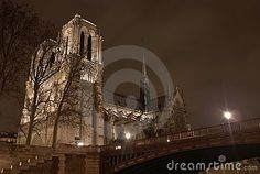 Another view of the famous 'Notre Dame de Paris' cathedral in Paris. Medieval ambiance? #forlicensing