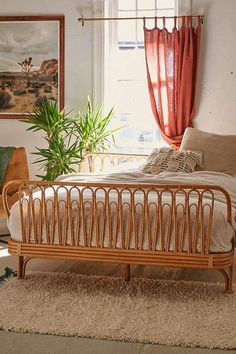 Urban Outfitters Canoga Rattan Bed