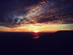 Sunset view from Raccoon Mtn.  Chattanooga, Tennessee
