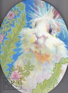William, 9x12 oval gallery wrapped canvas, featuring a lionhead bunny rabbit, $549, by Kimberly Santini