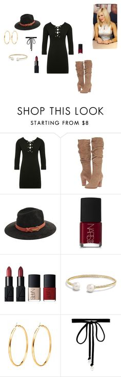 """Lana"" by aerogirl112 ❤ liked on Polyvore featuring M&Co, Steve Madden, San Diego Hat Co., NARS Cosmetics, David Yurman and Joomi Lim"