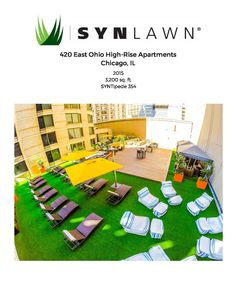 #TBT: Residents living at 420 East Ohio Apartments can lounge comfortably thanks to the artificial grass installed by SYNLawn Chicago! #outdoor #spring #artificialgrass #SYNLawn http://www.synlawn.com/contact/