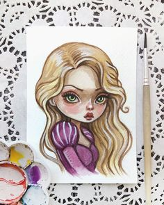 Rapunzel This baby can be found in my Etsy  Link in profile #doodletimewithkaroline #rapunzel…»