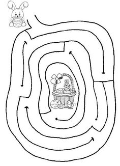 Vision therapy: Free Printable Mazes for Kids Easter Puzzles, Easter Worksheets, Easter Printables, Kindergarten Worksheets, Easter Art, Easter Crafts For Kids, Easter Eggs, Easter Bunny, Easter Games
