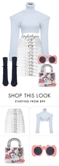 """Untitled #6665"" by stylistbyair ❤ liked on Polyvore featuring Manokhi, Jacquemus, Christian Dior and Le Specs"