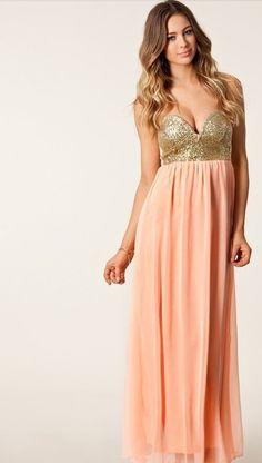P.S. I Love You More Boutique | Elegant Peach Romance Dress | Spring Summer Fashion 2014 www.psiloveyoumoreboutique.com