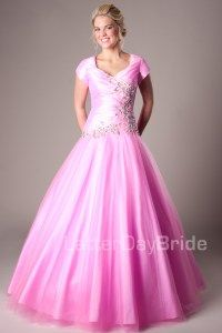 Modest Prom Dresses : Leslie -Modest Mormon LDS Prom Dress
