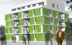 Nuove frontiere nella bio-architettura: la facciata di alghe, con l'obiettivo di limitare al minimo i consumi di energia e strizzare sempre più l'occhio all'ambiente. Il progetto Biq House, una costruzione che ha le facciate tappezzate da alghe, che sta prendendo froma ad Amburgo, in Germania.