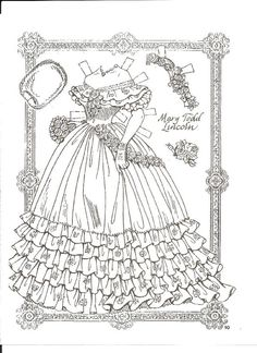Abe and Mary Todd Lincoln - Charles Ventura - Бумажные куклы - Каталог статей - Бумажные куколки Colouring Pages, Coloring Sheets, Coloring Books, Paper Toys, Paper Crafts, Mary Todd Lincoln, Abraham Lincoln, Paper Dolls Clothing, Free Adult Coloring