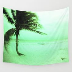 Palm Wall Tapestry by julieart
