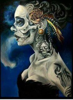 Hermosa ( skull skeleton girl ) Fay of the dead. Sugar Skull.