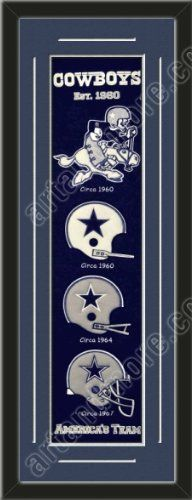 Heritage Banner Of Dallas Cowboys With Team Color Double Matting-Framed Awesome & Beautiful-Must For A Championship Team Fan! Most NFL Team Banners Available-Plz Go Through Description & Mention In Gift Message If Need A different Team Art and More, Davenport, IA http://www.amazon.com/dp/B00F1CCTXS/ref=cm_sw_r_pi_dp_ElfKub0YF41EC