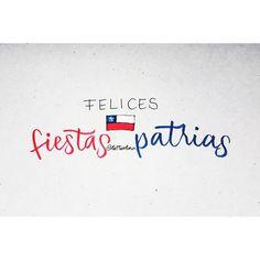 Feliz 18 a todos  disfruten mucho con sus familias y amigos. Recuerden que si toma no maneje . #handwriting #caligrafía #letterlina #catigraphy #brushpen #pentel #penteltouch #chile #fiestaspatrias #feliz18 #ligaendieciochá #LigaDeLetteringCL #septiembre