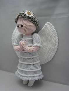 Guardian Angel (Instant download Amigurumi doll crochet pattern pdf)-to buy