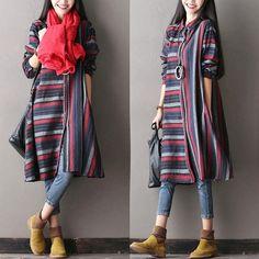 Casual Loose cotton linen autumn coat