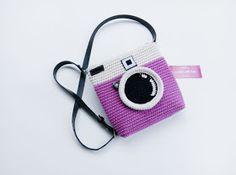Lomo Camera Fucia / Crochet Lomo Camera Slingbag / Tas Rajut Instagram