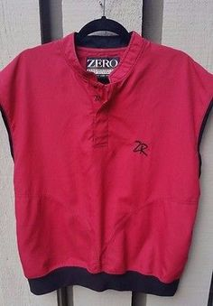 Zero Restriction ZR Golf Vest M Wind Rain Red Black Microfiber EUC
