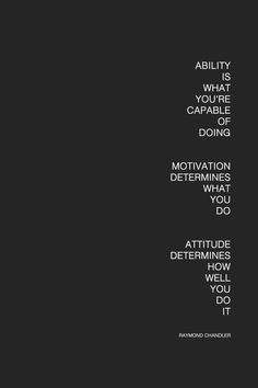 I agree with this except the motivation. Discipline determines what I do, not motivation. Motivation is fleeting. Words Quotes, Me Quotes, Motivational Quotes, Inspirational Quotes, Sayings, Positive Quotes, Dance Quotes, The Words, Cool Words