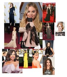 """""""The Oscars"""" by piper-o-johnson ❤ liked on Polyvore featuring Reem Acra, Kendall + Kylie, LC Lauren Conrad and Warehouse"""
