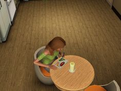 For some reason I really like giving my sims microwave meals, although I never have them!;P