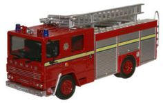 Oxford Diecast London Fire Bragade Dennis RS Fire Engine (Londons Burning) - 76DN001