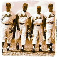 Don Zimmer, Felix Mantilla, Charlie Neal and Gil Hodges reporting to the first SpringTraining in 1962.