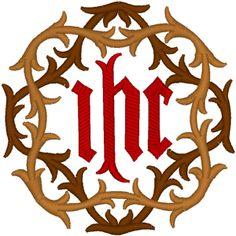 Machine Embroidery Design: Vintage Ecclesiastical Design 597