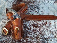 Highwayman Western Gun Holster with Gun Belt