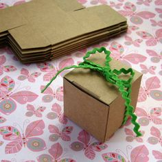 50 Tiny Kraft Boxes 1.5 x 1.5 x 1.5 inches Mini Cube Gift Box