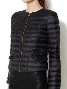 Super Light Weight Collarless Puffer Jacket by Allegri at Gilt