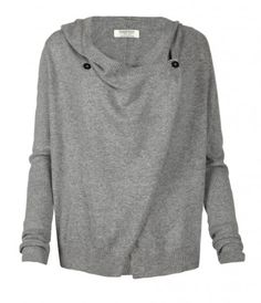 Harley Hoody, Women, Sweaters, AllSaints Spitalfields-- buttons open to make it drape front, and there is a wonderful hood  WANT