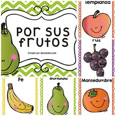 Semana 35- Por sus frutos Bible Stories For Kids, Bible Crafts For Kids, Church Activities, Activities For Kids, Toddler Bible Lessons, Holly Bible, Fruit Of The Spirit, Vacation Bible School, Kids Church