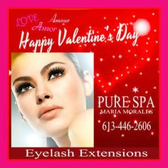 LOVE your New Eyelashes Extensions From PURE SPA in Rockland .613-446-2606