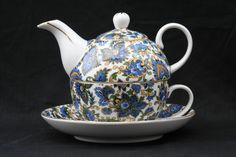*Royal Devonshire : Paisley Blue tea for one ...