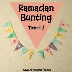 Ramadan Bunting Decorations tutorial Muslim Islamic Craft #ramadan