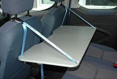 Hanging inside table for Caddy and Caddy Maxi - VanEssa Mobile Camping – Camping equipment for your Van – Mercedes … - Auto Camping, Minivan Camping, Diy Camping, Camping Table, Truck Camping, Family Camping, Tent Camping, Camping Hacks, Camping Gear