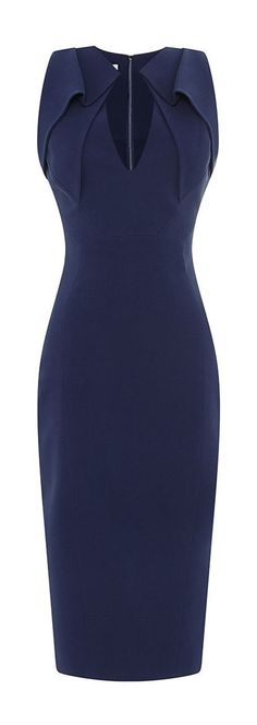 Antonio Berardi | Folded Collar Stretch-Crepe Dress