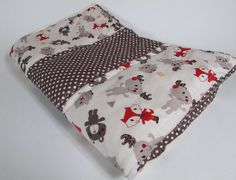 Baby Quilt Handmade Animal and Polka Dot Nursery Quilt Baby Blanket