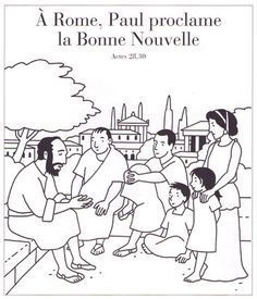 A Rome, Paul proclame la Bonne Nouvelle Kids Church, Edd, Images, Doodles, Antique, Christmas, Catechism, Drawings, Nun
