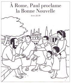 A Rome, Paul proclame la Bonne Nouvelle Kids Church, Edd, Memes, Antique, Christmas, Catechism, Drawings, Nun, Catholic