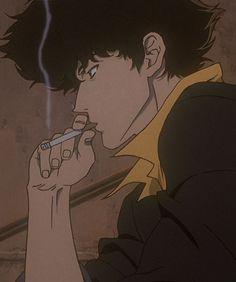 Cowboy Bebop My fav. anime show. Anime Ai, Manga Anime, Film Anime, Sad Anime, Anime Guys, Aesthetic Anime, Aesthetic Art, Rakan League Of Legends, Cowboy Bebop Anime
