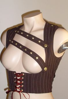 Steampunk Underbust Vest Small by annaladymoon on Etsy