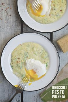 Broccoli Pesto Polenta (via Bloglovin.com )