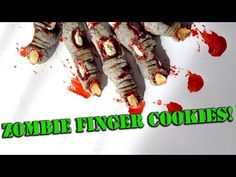 How To Make Zombie Finger Cookies! - YouTube -sweetambscookies - I swear all the other videos are just as awesome. It's pretty mesmerizing.