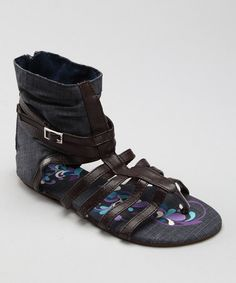 Take a look at this Denim Birdcage Sandal by MUK LUKS on #zulily today! $13.99, regular 30.00
