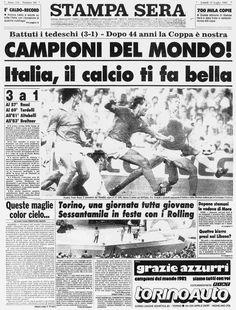 Campioni del Mondo  Stampa Sera 12 Luglio 1982