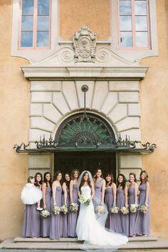 villa wedding brides wedding party