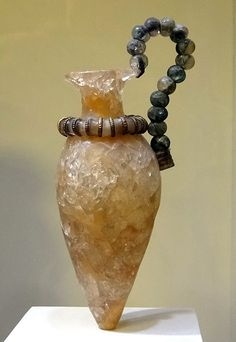 Rock-crystal vase. 1500-1450 BC. Found in Zakros, Crete. Currently in the Heraklion Archaeological Museum, Crete.